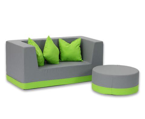 Sofa mit Rueckenlehne und Armstuetzen Webstoff-15