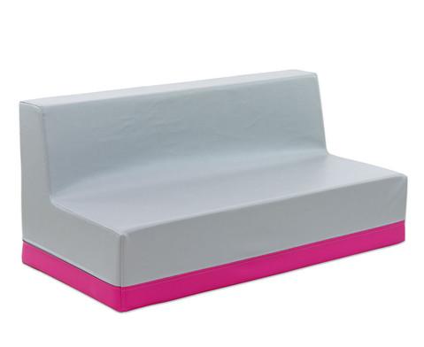 Sofa mit Rueckenlehne Kunstleder-2