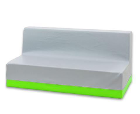 Sofa mit Rueckenlehne Webstoff-2