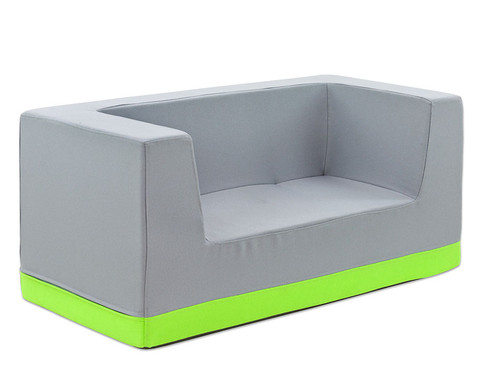 Sofa mit Rueckenlehne und Armstuetzen Kunstleder-8