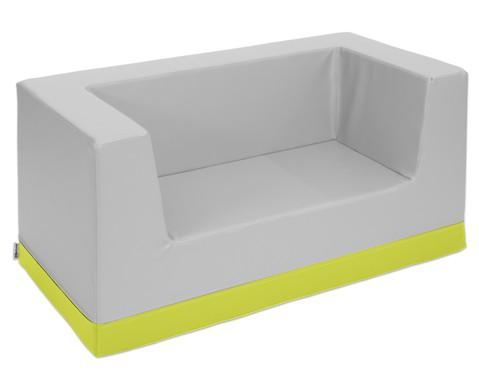 Sofa mit Rueckenlehne und Armstuetzen Kunstleder-9
