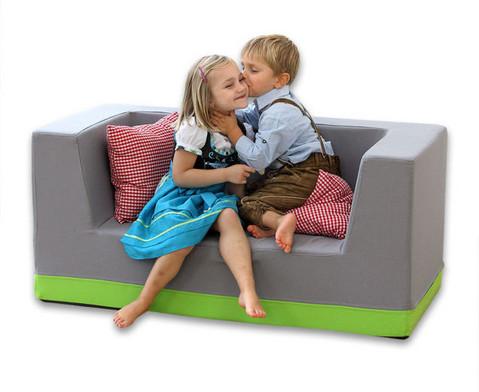 Sofa mit Rueckenlehne und Armstuetzen Kunstleder-10