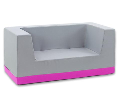 Sofa mit Rueckenlehne und Armstuetzen Webstoff-17