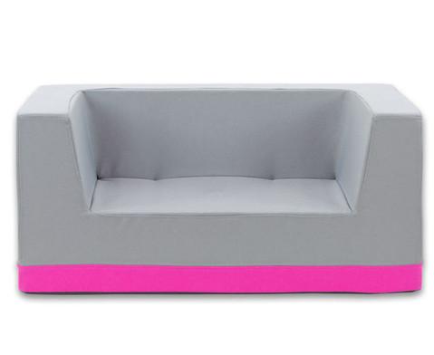 Sofa mit Rueckenlehne und Armstuetzen Webstoff-18