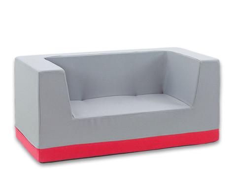Sofa mit Rueckenlehne und Armstuetzen Webstoff-7