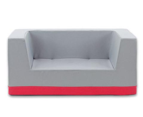sofa mit r ckenlehne und armst tzen webstoff. Black Bedroom Furniture Sets. Home Design Ideas