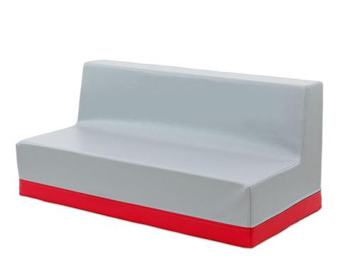 Sofa mit Rueckenlehne Webstoff-8