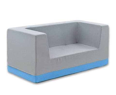 Sofa mit Rueckenlehne und Armstuetzen Kunstleder-12