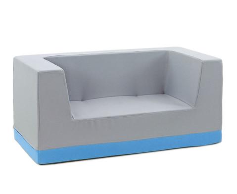 Sofa mit Rueckenlehne und Armstuetzen Webstoff-2