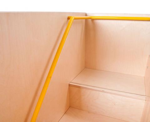 Wickelkommode mit Treppe und Tuer links 90 cm tief-12
