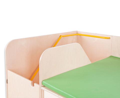 Wickelkommode mit Treppe und Tuer links 90 cm tief-18