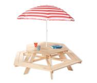Kindersitzgarnitur mit Sonnenschirm