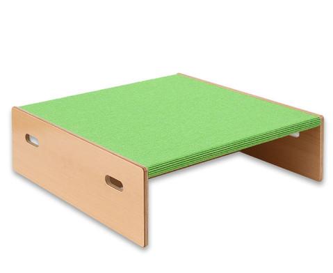 Spielpodest Quadrat klein beidseitig offen