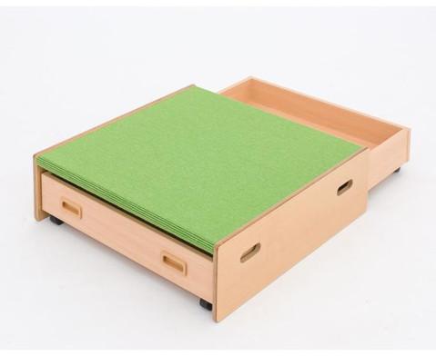 Spielpodest Quadrat klein beidseitig offen-3