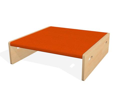 Spielpodest Quadrat klein beidseitig offen-14