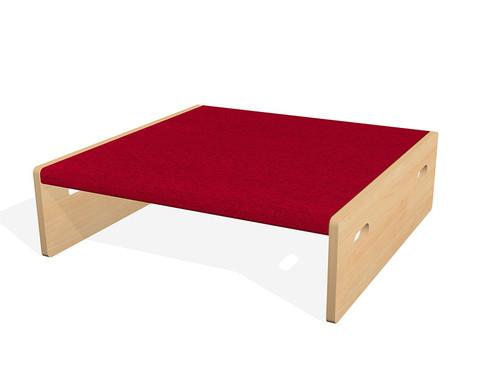 Spielpodest Quadrat klein beidseitig offen-9