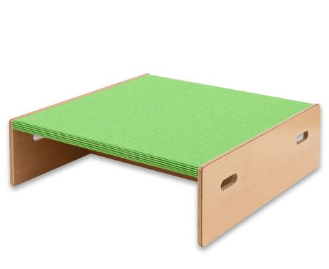 Spielpodest Quadrat klein beidseitig offen-5