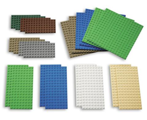 LEGO Bauplatten klein 22-tlg