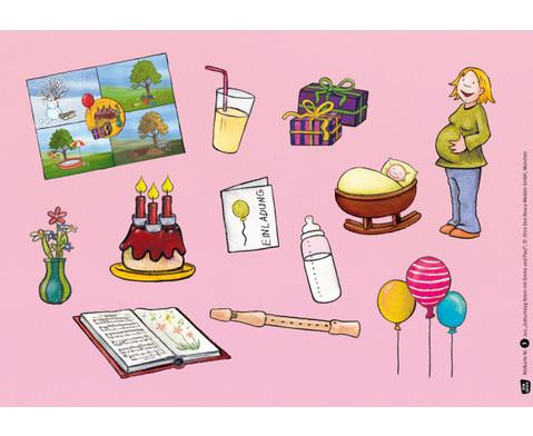 Bildkarten  Geburtstag feiern mit Emma und Paul-2