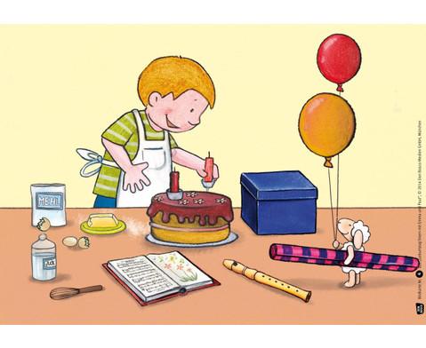 Bildkarten  Geburtstag feiern mit Emma und Paul-3
