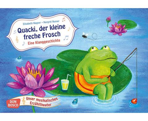 Bildkarten Quacki der kleine Frosch