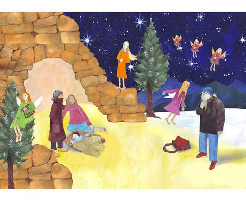 Bildkarten Die heilige Nacht-2