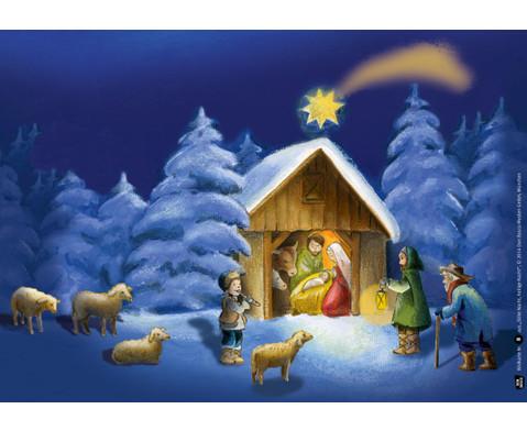 Bildkarten Stille Nacht heilige Nacht-4