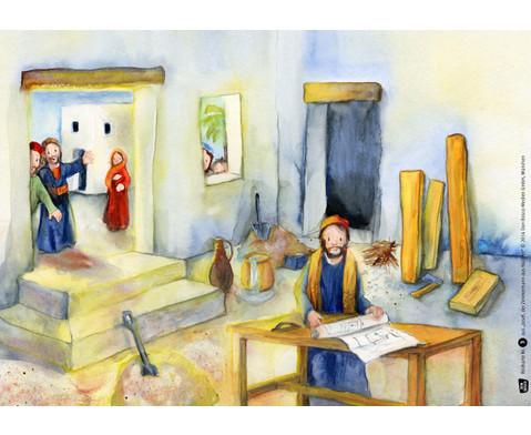 Bildkarten  Josef der Zimmermann aus Nazaret-2