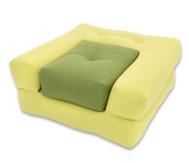 Sessel 'Dado' hellgrün/dunkelgrün