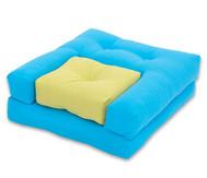 Sessel 'Dado' Blau/Grün