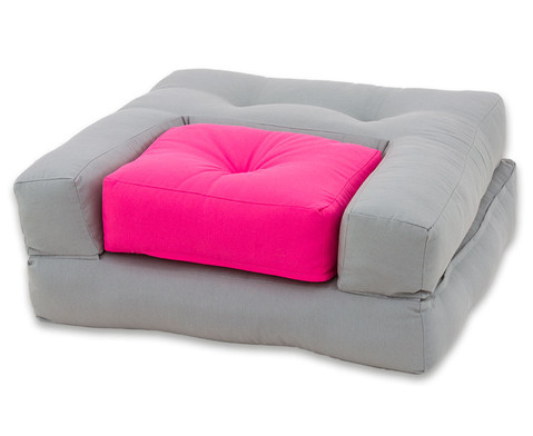 Sessel Dado mini grau-Pink