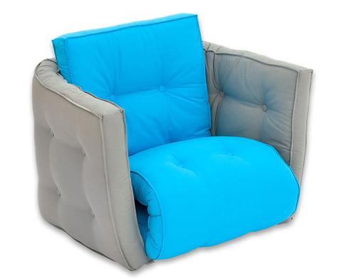 Sessel Sedia grau-blau-1