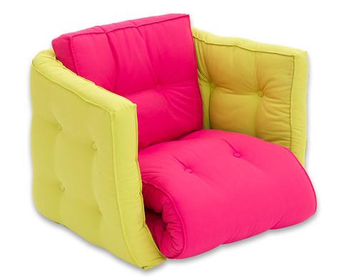 Sessel Sedia pink-grau-1