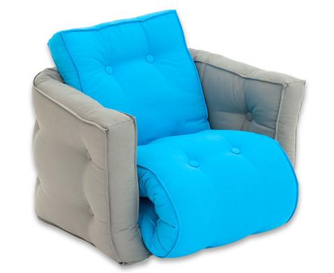 Sessel Sedia mini grau-blau