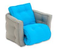 Sessel 'Sedia' mini grau/blau