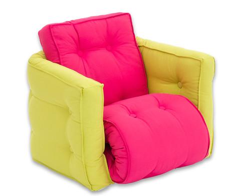 Sessel Sedia mini gruen-pink-1