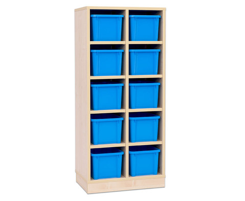 Garderoben-Fachregale CHIPPO mit blauen Boxen-3