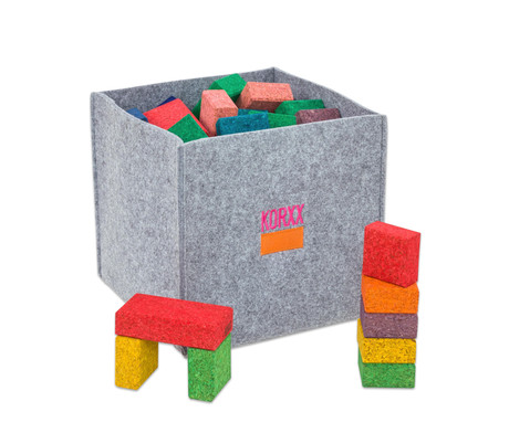 38 bunte Korxx-Bausteine Quadrate  Rechtecke