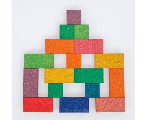 38 bunte Korxx-Bausteine Quadrate  Rechtecke-3