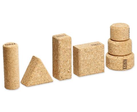 60 Natur-Korxx-Bausteine verschiedene Formen-3