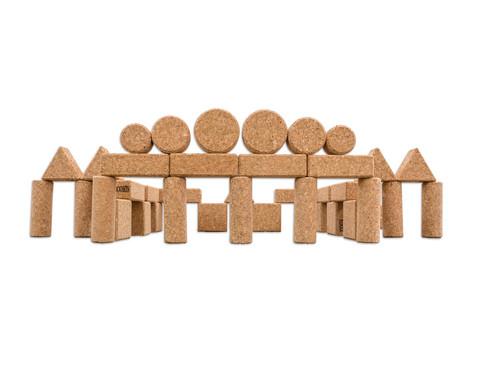 60 Natur-Korxx-Bausteine verschiedene Formen-6