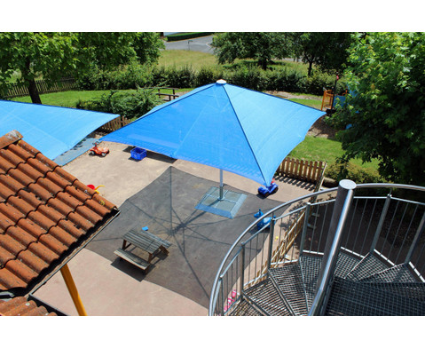 Sonnenschirm Sombrero quadratisch 3 m-4