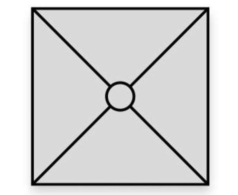 Sonnenschirm Sombrero quadratisch 3 m-5
