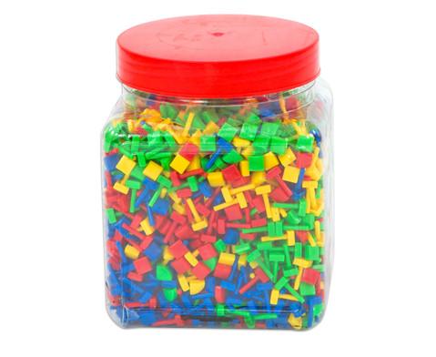 Fanta Color Steckperlen quadratisch  10 mm 2100-tlg-1