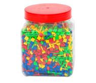 Fanta Color, Steckperlen, quadratisch, Ø 10 mm, 2100-tlg.
