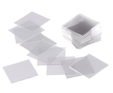 Deckglaeschen 18 x 18 mm 100 Stueck