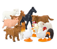 Bauernhof Tiere, 12 Stück