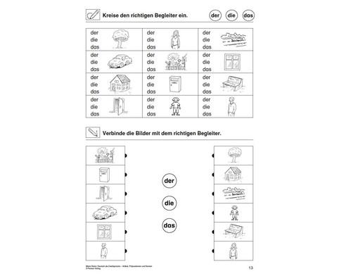 Artikel Praepositionen  Nomen - Mein Zuhause 1-2-3