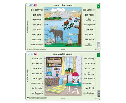 Lernpuzzle 10er- Set Lesen I-1