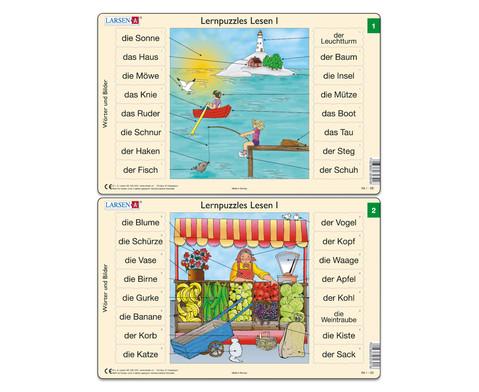 Lernpuzzle 10er- Set Lesen I-3